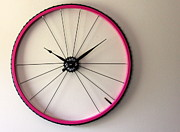 Bicycle Art Sculptures - Fuchsia by Michael Ediza