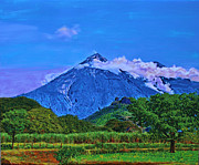 Central America Mixed Media - Fuego Volcano Guatamala by Deborah Boyd