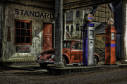 Old Car Door Photos - Fuel by Erik Brede
