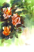 Floral Still Life Originals - Fugitive Red Roses by Kip DeVore