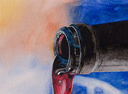 Pouring Wine Painting Prints - Full Body Print by Wendell Fiock
