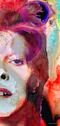 Bowie Mixed Media - Full Color - David Bowie Art by Sharon Cummings