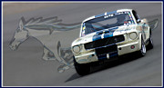 Ford Mustang Racing Prints - Full Gallop Print by Kurt Golgart