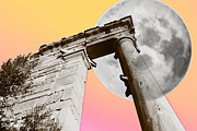 Archeological Sight Prints - Full Moon at Apollo Print by Augusta Stylianou