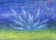 Lotus Leaves Paintings - Full Moon Lotus by Beth Fischer