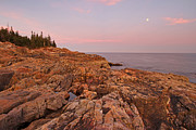 Acadia National Park - Full Moon over Acadia National Park by Juergen Roth