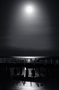 Moonlit Night Photos - Full Moon over Bramble Bay by Peta Thames