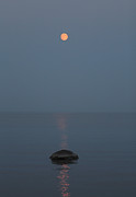 Kathy DesJardins - Full Moon Over Lake Huron