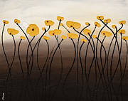 Poppies Paintings - Full Moon Passion by Carmen Guedez