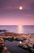 New England Acrylic Prints - Full Moon Reflection by Juergen Roth