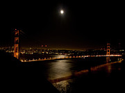 Golden Gate National Recreation Area Photos - Full Moon Rising by Bill Gallagher