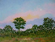 Sunset Paintings - Full Moon Rising by Gail Kent