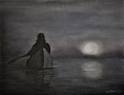 Full Moon Rising Print by Wade Starr