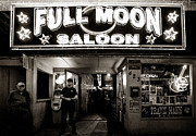 Bouncer Posters - Full Moon Saloon Poster by Diana Powell