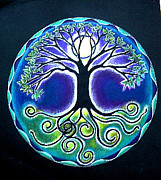 Tree Mandala Originals - Full Moon Tree of Life  by Caterina Martinico