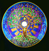 Tree Mandala Originals - Full Moon Winter Solstice Mandala  by Caterina Martinico
