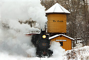 Christmas Card Ideas Prints - Full Steam Ahead Print by Ken Smith