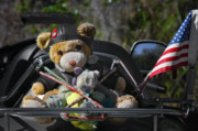 Traveling Art - Full Throttle Teddy Bear by Christine Till