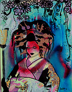 Lamp Post Mixed Media Prints - Fumiko Print by dreXeL