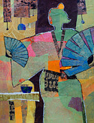 Melody Painting Originals - Fumikos Fan Dance by Melody Cleary