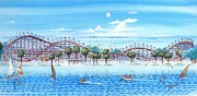 Jet Painting Prints - Fun At Mission Bay Print by John Yato