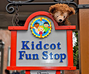 Disney Bear Photos - Fun Bear Signage Walt Disney World by Thomas Woolworth
