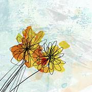 Fun Flowers  Print by Ann Powell