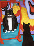 Cat Story Originals - Fun House Fat Cat by Karen Zuk Rosenblatt