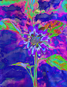Trippy Digital Art - Fun in the Sun blue by H Cooper
