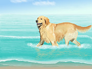 Animal Shelter Digital Art - Fun in the Sun by Jacqueline Barden