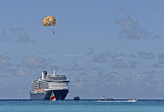 Half Moon Cay Prints - Fun In The Sun - Ship at Anchor Print by Michael Flood