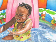 Summer Fun Drawings - Fun in the Sun by Toni  Thorne
