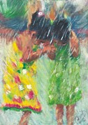 Playing Painting Originals - Fun Shower by Richard Booker