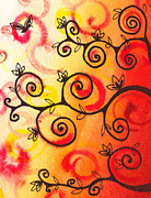 Brunch Painting Prints - Fun Tree Of Life Impression I Print by Irina Sztukowski
