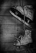 Old Skates Photo Prints - Fun With Father  Print by Jerry Cordeiro
