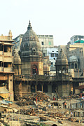 Cremation Photos - Funeral Pyres and Crematory Varanasi India by Pamela Buol