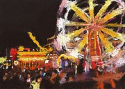 Paul Mitchell Acrylic Prints - Funfair Scene 1 Acrylic Print by Paul Mitchell