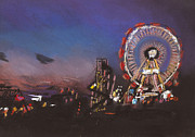 Paul Mitchell Acrylic Prints - Funfair Scene 2 Acrylic Print by Paul Mitchell
