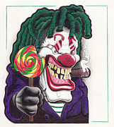 Stogie Posters - Funky Clown Poster by Eric Reynolds