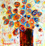 Decorative Art Painting Originals - Funky Flowers by Patricia Awapara