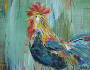 Do Business Posters - Funky Rooster Poster by Kathy Stiber