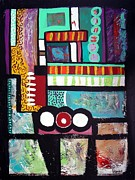 Outsider Art Mixed Media - Funkytown by Venus