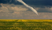 Funnel Clouds Prints - Funnel Clouds Print by Larry Trupp