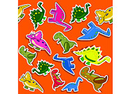 Dino Digital Art - Funny dino seamless pattern with red background by Gino De Graaf