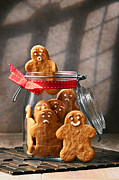 Biscuit Posters - Funny gingerbread Men Poster by Christopher and Amanda Elwell