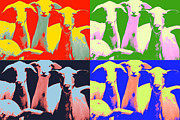 Goat Mixed Media Posters - Funny Goats I Poster by Walcir Cardoso Jr