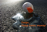 Asphalt Photos - Funny greeting card for easter by Matthias Hauser