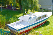 Wooden Ship Painting Prints - Funplex Funpark Boat 8 Print by Lanjee Chee