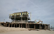 Superstorm Sandy Framed Prints - Funtown Pier in Seaside Hts NJ Framed Print by Melinda Saminski