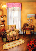 Curtains Photos - Furniture - Chair - Livingrom Retirement by Mike Savad